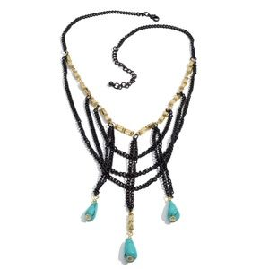 Jewelry - Blue Chroma & Black Stainless Steel Necklace